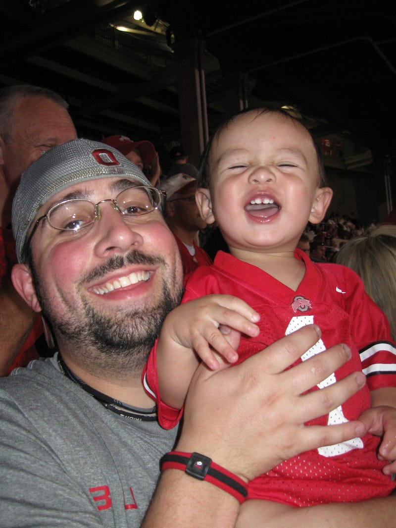 """Illustration for article titled A Brief Interview With An Ohio State Fan Who Named His Kid """"Tressel"""""""