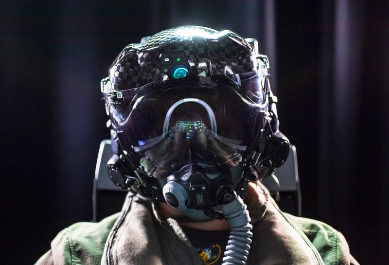Illustration for article titled This Is The F-35's Third Generation Super Helmet