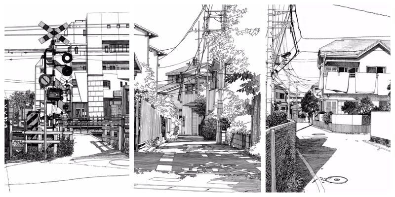 how to draw a street view