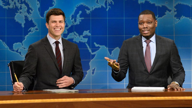 Illustration for article titled SNL is taking over the Emmys, beginning with Michael Che and Colin Jost
