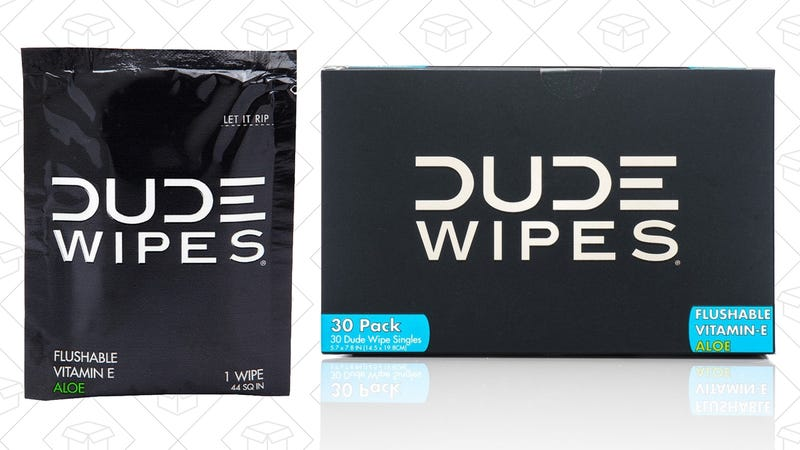 60 Individual Dude Wipes, $11
