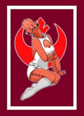 Illustration for article titled Star Wars Pinups