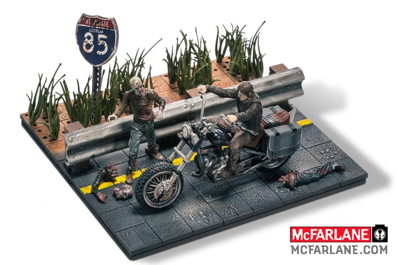 Illustration for article titled McFarlane Toys Is Making Awesome But Baffling Walking Dead Lego Sets