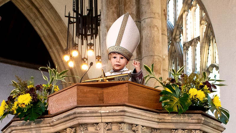 Illustration for article titled Catholic Church Brings In New Perspective On Solving Abuse Scandal With Appointment Of Toddler Bishop
