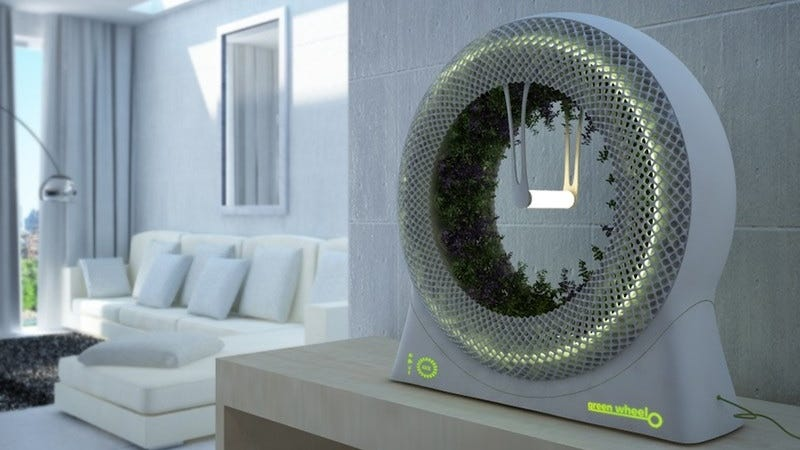 What Was Once Intended To Be A Garden For Outerspace Could Someday Be A  Garden For Your Living Room. The DesignLibero Green Wheel Is A Planter Box  Fashioned ...