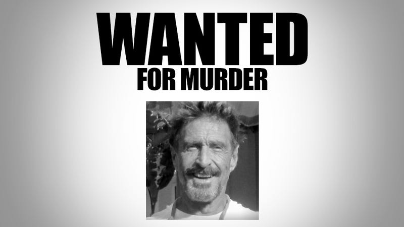 Illustration for article titled Exclusive: John McAfee Wanted for Murder (Updated)