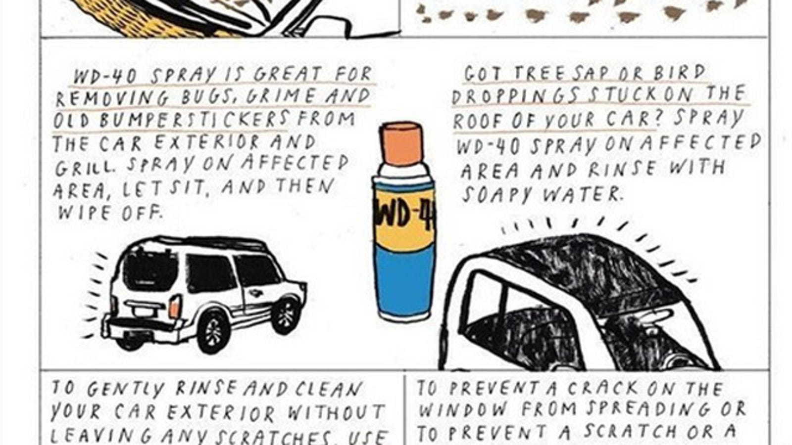 Clean Your Car With Wd 40