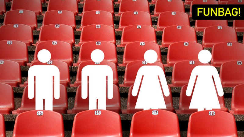 Illustration for article titled What's The Proper Way To Seat Two Couples At A Sporting Event?