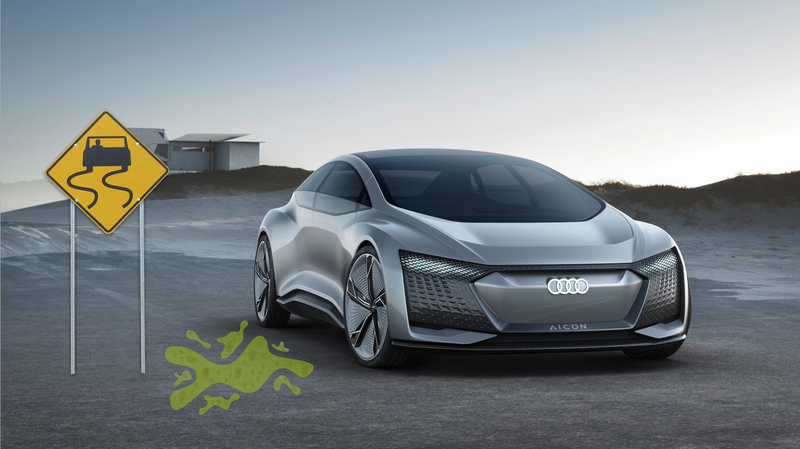The Audi Aicon, a proposed autonomous-car concept from Volkswagen AG.