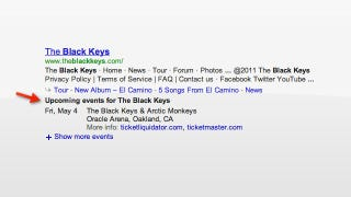 Illustration for article titled Google Search Results Now Show Concert Listings