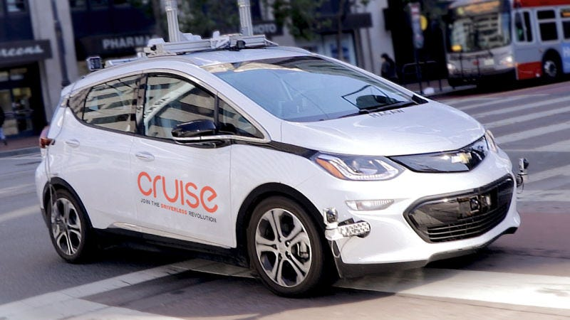 One of GM Cruise's self-driving cars in SF.