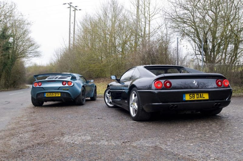 Illustration for article titled Ferrari or Lotus? The Dumb Facebook Edition
