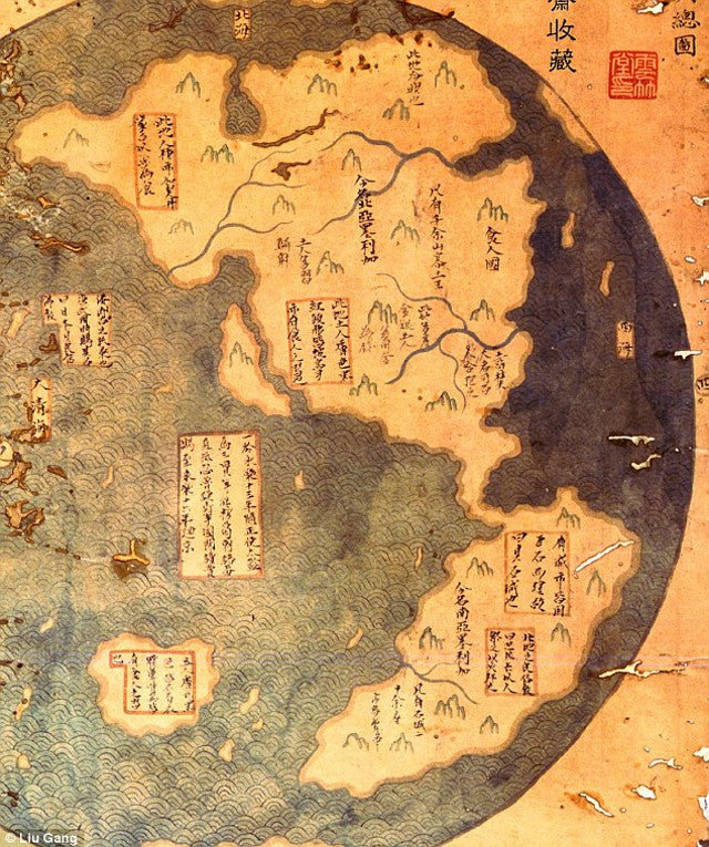 Does This Map Prove That China Discovered America Before Columbus