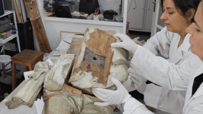 Secret Time Capsule Found Inside Jesus' Butt