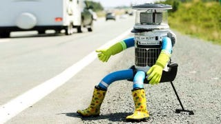 Illustration for article titled hitchBOT's Epic 3,800 Mile Journey Across Canada Has Officially Begun