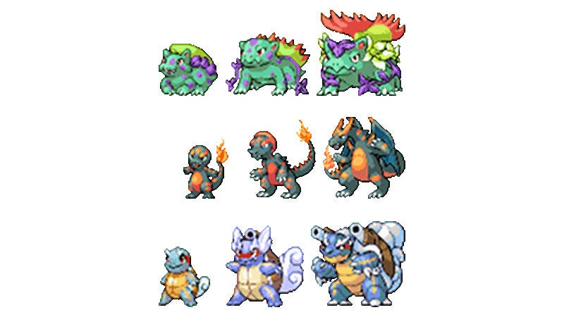 the original starter pokémon re imagined
