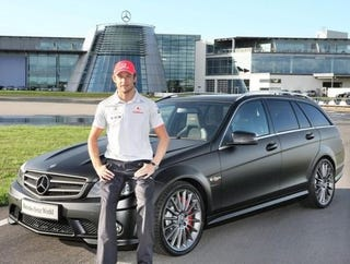 Illustration for article titled Jenson Button's Other Car Is A Mercedes-Benz C-Class DR 520 Estate