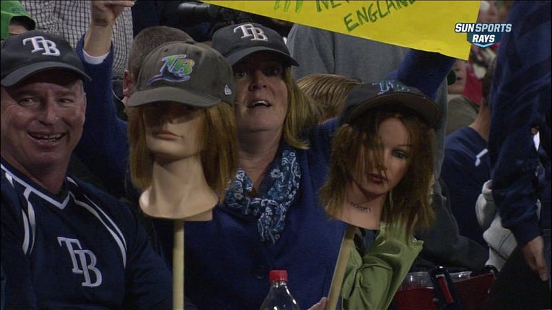 Illustration for article titled Rays Fans Have Found A Unique, Horrifying Solution To The Attendance Problem