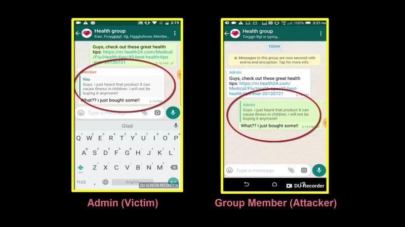 Illustration for article titled Un fallo de WhatsApp permite alterar el remitente y el contenido de cualquier mensaje usando las citas