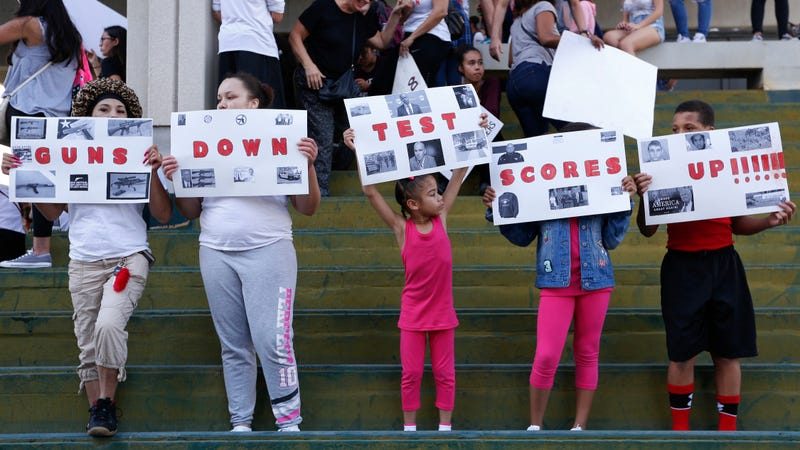Protest at the Broward County Federal courthouse in Fort Lauderdale, Fla., on Saturday, Feb. 17, 2018. Image via AP.