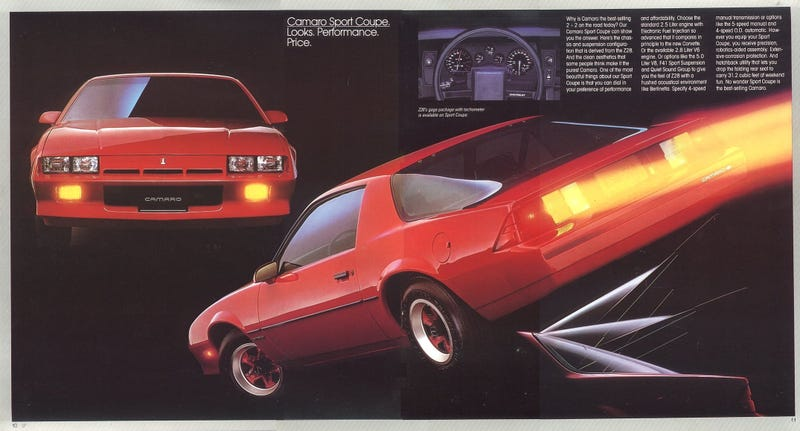 Illustration for article titled The First Four-Cylinder Chevrolet Camaro Was Really Bad