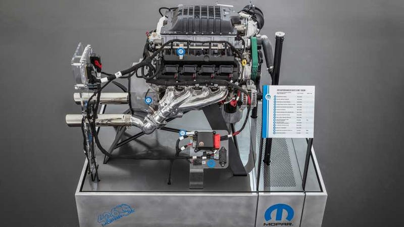 Progressive Dodge >> Mopar Brings The Fire With 1000-Horsepower Plug-And-Play 426 'Hellephant' Crate Engine At SEMA