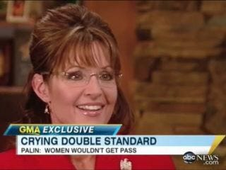 """Illustration for article titled Palin Says There's A """"Double Standard"""" On Crying"""