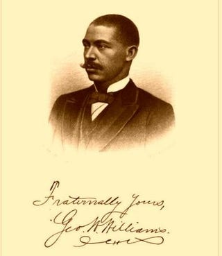 George Washington Williams, depicted on autographed frontispiece of History of the Negro Race in America from 1619 to 1880