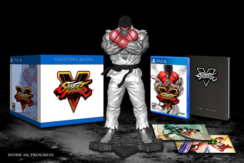 Illustration for article titled Street Fighter V Collector's Edition + Preorder Bonuses