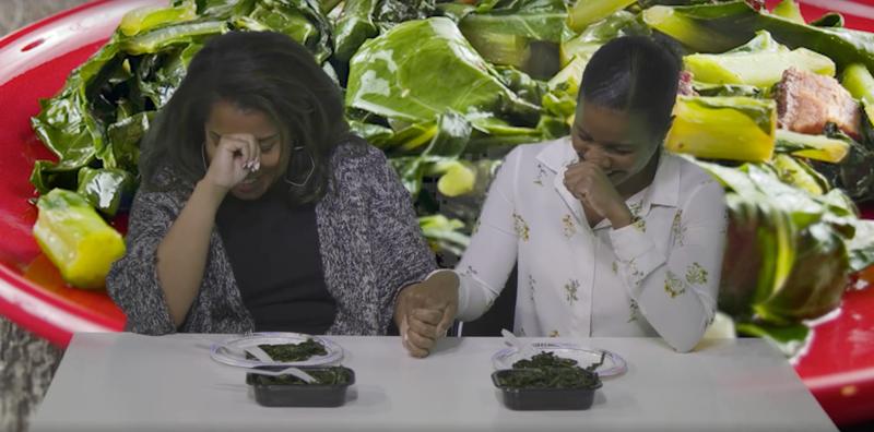 The Root staffers eating the $66 Neiman Marcus collard greensThe Root screenshot