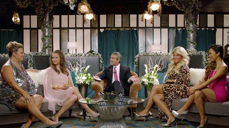 (Bridget Everett, Kim Caramele, Andy Cohen, Amy Schumer, Greta Lee) (Photo: Comedy Central)