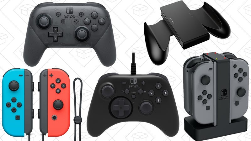 Nintendo Switch Joy-Con Controllers | $63 | Rakuten | Use code YEAREND20Nintendo Switch Pro Controller | $55 | Rakuten | Use code YEAREND20HORI Nintendo Switch HORIPAD Wired Controller Officially Licensed by Nintendo | $21 | AmazonNintendo Switch Joy-Con Comfort Grip | $7 | AmazonNintendo Switch Joy-Con Charging Dock | $18 | Amazon