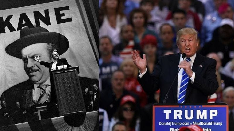 Illustration for article titled Citizen Trump: What the Donald's love of Citizen Kane reveals about him