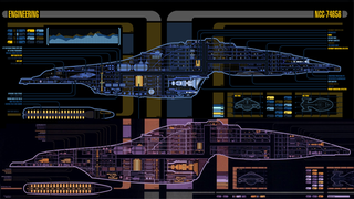 Redesigning the msd of star treks uss voyager puts the focus on star trek voyager alongside returning to the delta quadrant the art team have had to tweak the ships lcars cutaway schematics to sciox Image collections