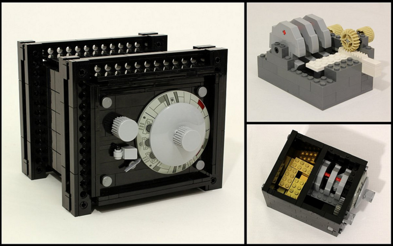 Illustration for article titled Someone Built A LEGO Safe With A Working Combination Lock
