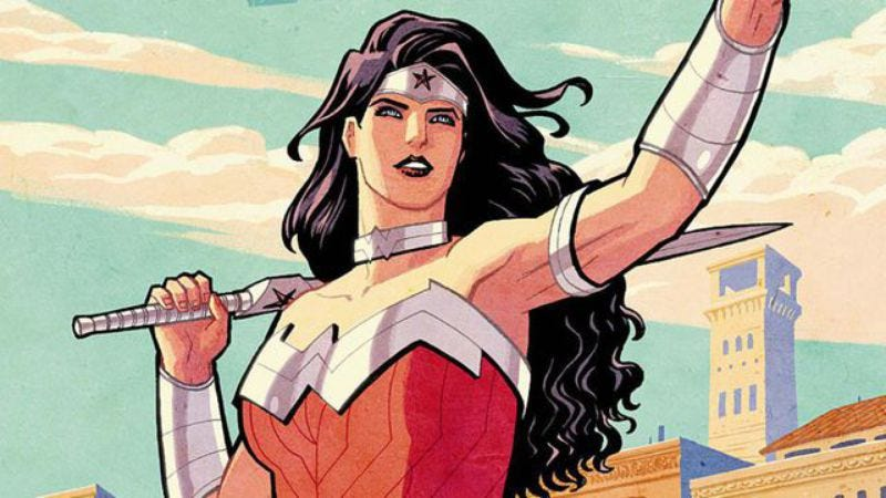 Illustration for article titled Here's the first shot of Wonder Woman from her own damn movie, finally
