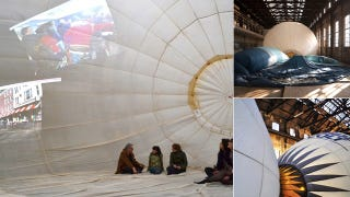 """Illustration for article titled Hot Air Balloons Find New Life as Temporary Art Space """"Mind Igloo"""""""