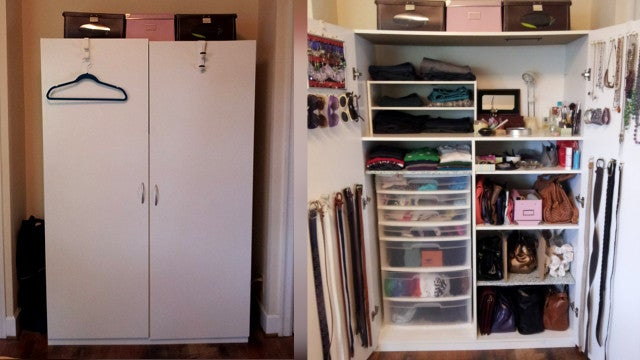 How to organize a lot of clothing in very little closet space - How to organize clothes without a closet ...