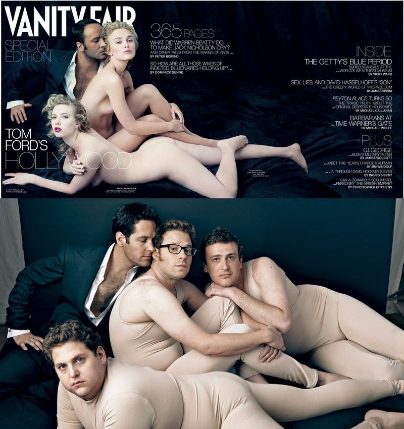 Illustration for article titled Vanity Fair: Not In Favor Of Naked Men