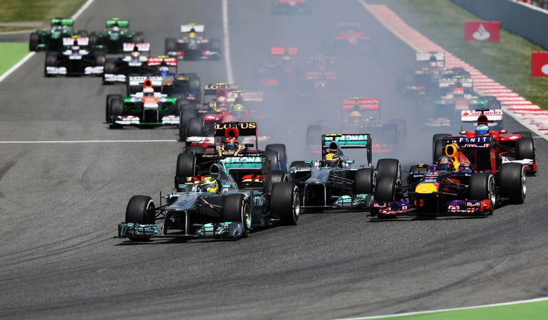 Illustration for article titled Hometown Hero Schools The F1 Field In The Spanish Grand Prix