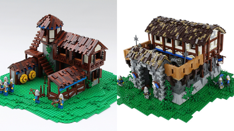 Illustration for article titled Age of Empires IIBuildings, In LEGO Form