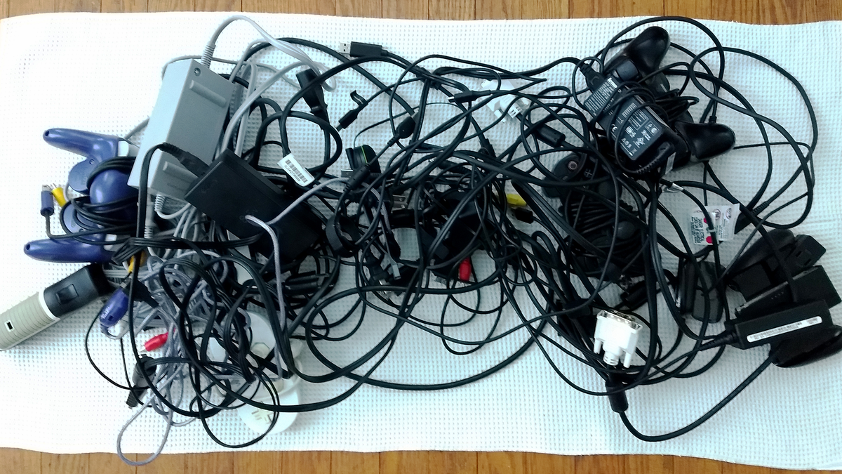 How To Organize Your Cords Computer Wiring Mess