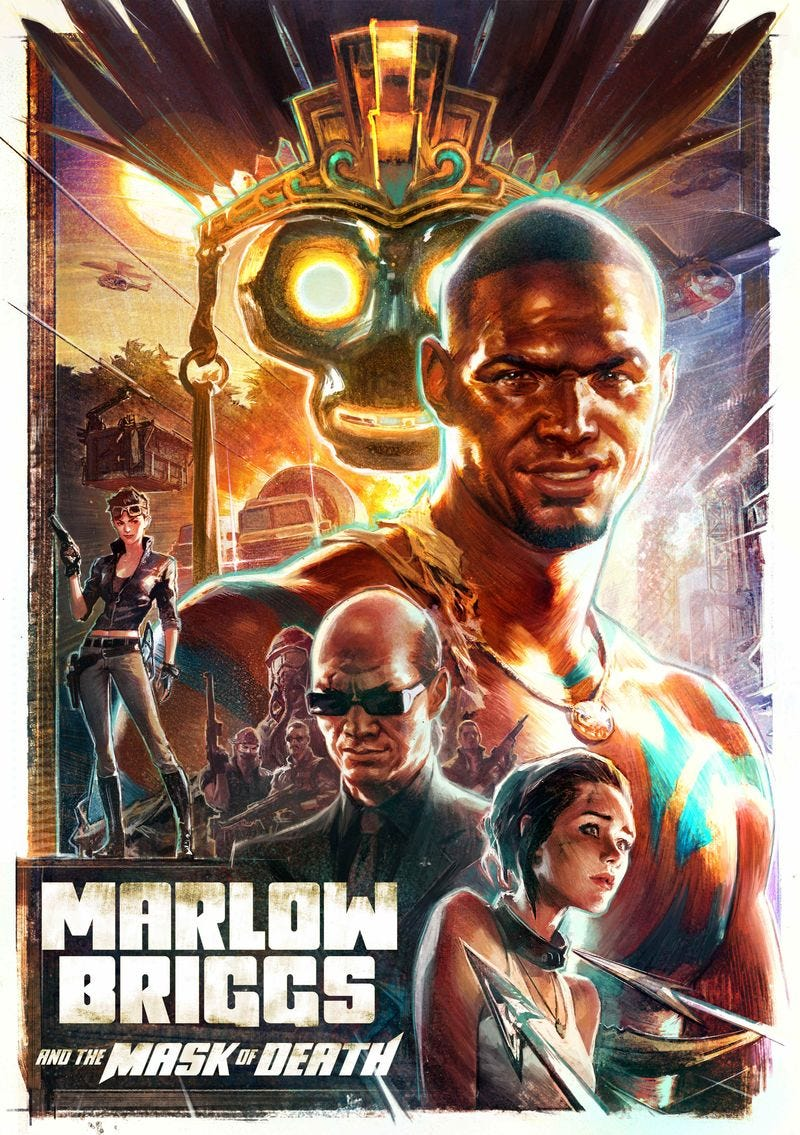 Illustration for article titled Irresistible Box Art For Marlow Briggs and the Mask of Death