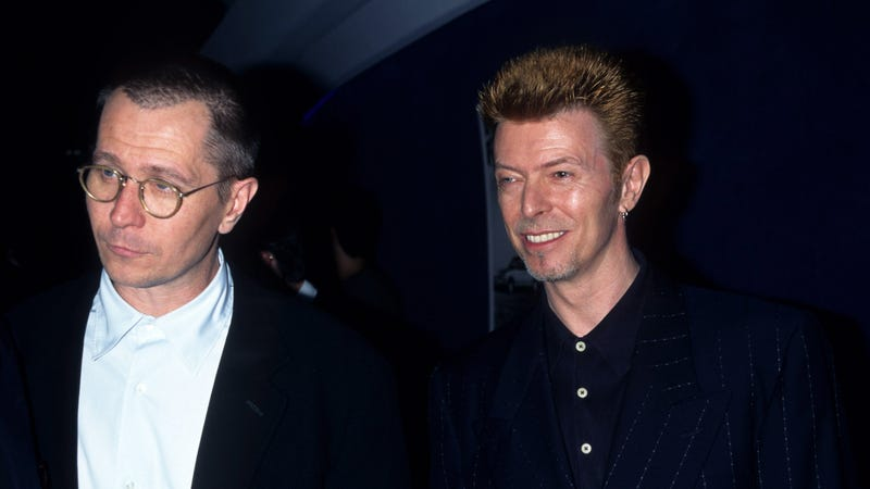 Gary Oldman and David Bowie in 1996