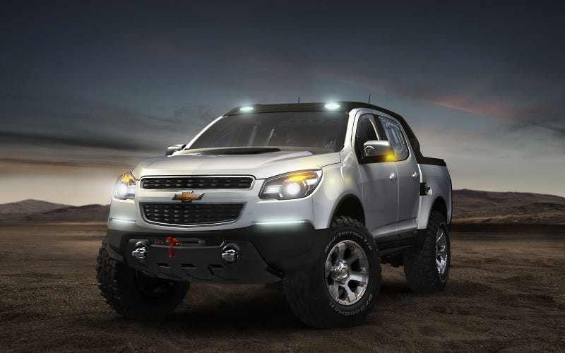 Illustration for article titled Chevy Colorado Rally Concept's a forbidden Hilux fighter