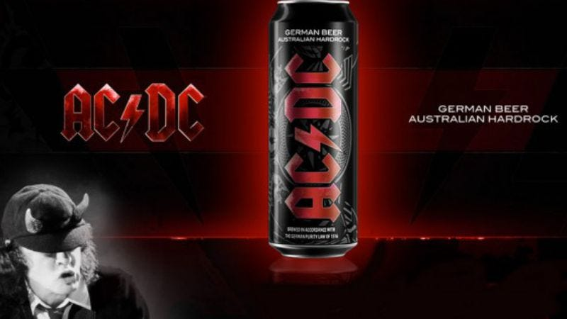 Illustration for article titled AC/DC has its own beer now, wants to get fans thunderdrunk