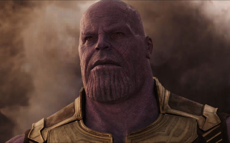 We realize this image makes it look like Thanos cut one, and we're okay with that (Screenshot: Avengers: Infinity War trailer)