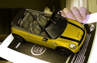 Illustration for article titled New Magazine Ad Displays 3D Car in Augmented Reality