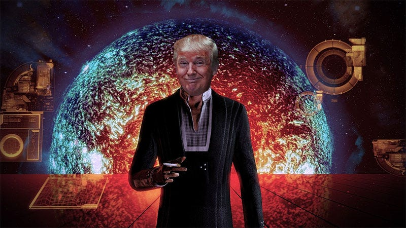 Illustration for article titled Donald Trump Tweets A Terrible Campaign Ad That Rips Off Mass Effect