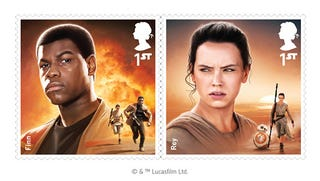 Illustration for article titled Britain's Royal Mail Celebrates The Force Awakens With A New Set Of Stamps